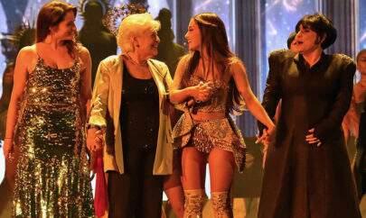 Descubra quem era a terceira mulher com Ariana Grande no palco do VMA 2018