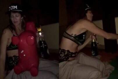 Pedro Scooby e Luana Piovani mostram momentos quentes em festa íntima