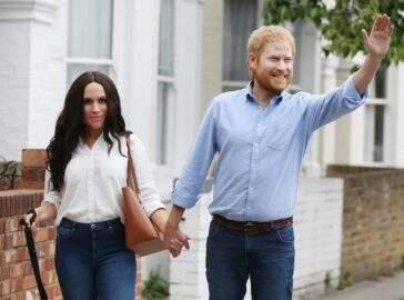 Máscaras de cera de Meghan Markle e Príncipe Harry assustam internautas