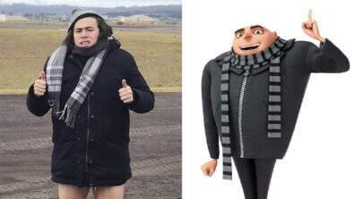 """Com roupa de frio e """"perna fina"""", Whindersson é comparado a personagem de """"Meu Malvado Favorito"""""""