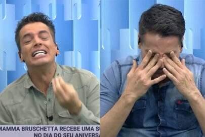 """Antes de se internar, Leo Dias chora ao vivo durante o """"Fofocalizando"""""""