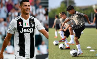 Seguindo os passos do pai? Filho de Cristiano Ronaldo faz quatro gols em sua estreia como jogador de futebol