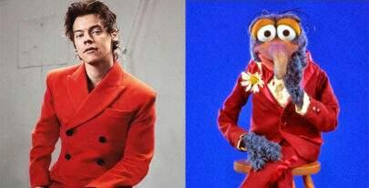 Fãs estão comparando Harry Styles com o Gonzo, dos Muppets
