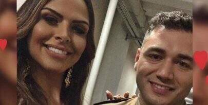 Apresentadora comemora noivado com policial após cantada em programa ao vivo