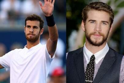Tem gente dizendo que o sósia do Liam Hemsworth estava em campeonato de tênis