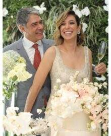 William Bonner e Natasha Dantas se casam em cerimônia íntima em São Paulo