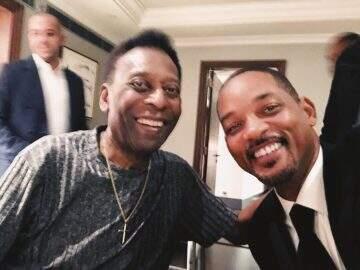 """Will Smith tieta Pelé e comemora encontro: """"Conheci a lenda"""""""