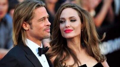Angelina Jolie joga pertences de Brad Pitt no lixo