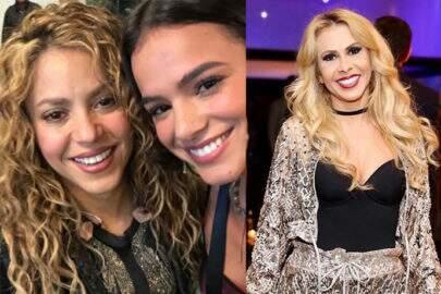 """Joelma brinca em foto de Bruna Marquezine com Shakira: """"Eu e Bruninha"""""""