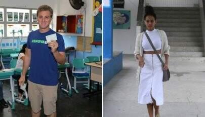 Taís Araújo, Luciano Huck e outros famosos votam no 1º turno em todo o Brasil