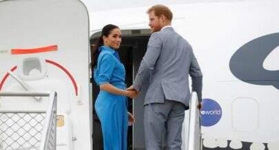Avião com Meghan Markle e Príncipe Harry aborta pouso em Sydney, na Austrália