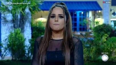 """""""A Fazenda 10"""": Perlla é a quarta eliminada e dispara contra Nadja: """"Tinha pena dela"""""""