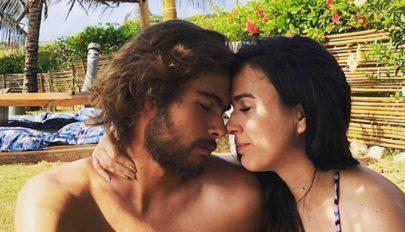 """Rafael Vitti posta foto beijando Tatá Werneck e mão boba chama atenção: """"Pouca vergonha no trabalho"""""""