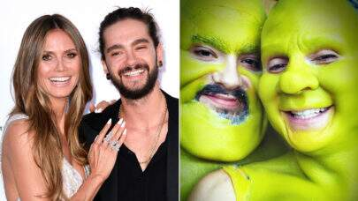 Heidi Klum surpreende mais uma vez e aparece de Fiona em sua festa de Halloween