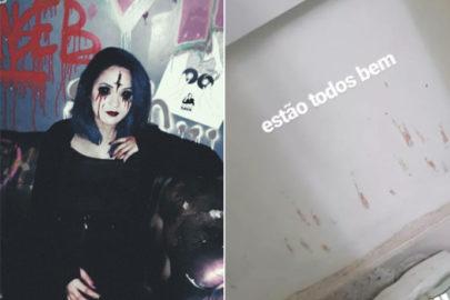 A internet está chocada com a história das aparições de sangue na casa de uma maquiadora