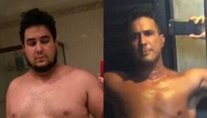 """Após perder 70 kg, André Marques mostra mudança no corpo e desabafa: """"Estava no fundo do poço"""""""