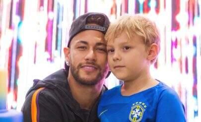 Neymar se declara para Davi Lucca com foto lindíssima nas rede sociais
