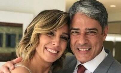William Bonner e Natasha Dantas se casam pela segunda vez em 2 meses