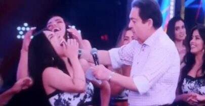"Faustão bate microfone na boca de bailarina e se desculpa: ""Vídeo cassetada ao vivo"""