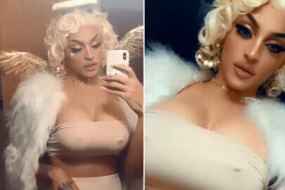 Com seios de silicone, Pabllo Vittar se transforma em Marilyn Monroe