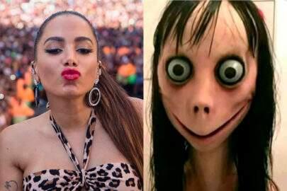 Anitta viraliza ao ser comparada com o Momo em vídeo do Instagram