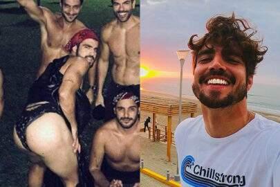 """Caio Castro comenta foto polêmica de Carnaval: """"Não era calcinha fio dental"""""""