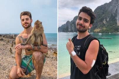 DJ tenta recriar foto de Alok com macaco e acaba sendo 'atacado'