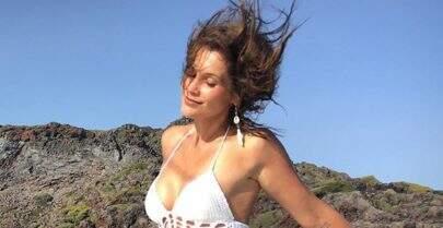 """Otaviano Costa posta foto de Flávia Alessandra com maiô ousado: """"Minha musa"""""""