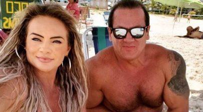 """Mulher de ex-apresentador da Record revela intimidade do marido: """"É 1 cm maior do que Kid Bengala"""""""