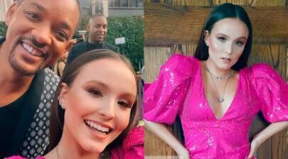 Internautas zoam Larissa Manoela após reação de Will Smith em selfie