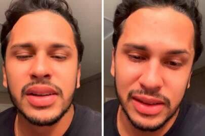 """Marido de Carlinhos Maia chora em vídeo ao comentar briga com Whindersson: """"Não vou me calar"""""""