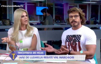 Val Marchiori responde mãe de Ludmilla e bate boca com apresentador em programa ao vivo