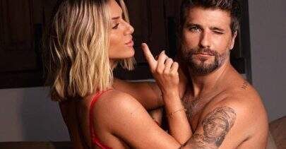 """Bruno Gagliasso """"apalpa"""" bumbum de Giovanna Ewbank em pose sexy: """"Ela se derrete toda"""""""