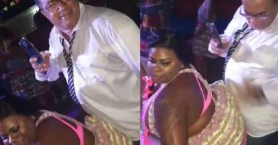 Pai de Anitta sensualiza em dança com Jojo Todynho e dá 'tapinhas' no bumbum da funkeira
