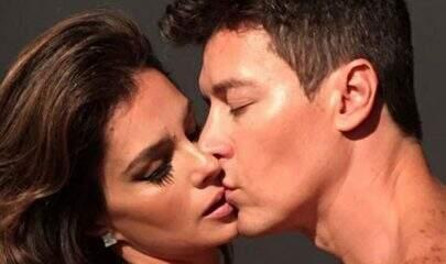 """Rodrigo Faro aparece com esposa na cama e divide momento picante: """"Meu tudo"""""""