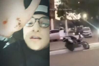MC Gui tenta empinar moto e sofre acidente; Assista ao vídeo