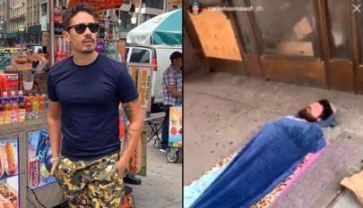 Carlinhos Maia é criticado após filmar mendigo em Nova York e dizer que parece ator
