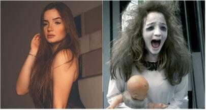 """Após colocar silicone, """"Menina Fantasma"""" comemora 19 anos com ensaio sensual"""