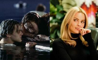 """Margot Robbie comenta sobre cena polêmica em """"Titanic"""" e Leo DiCaprio se recusa a falar"""