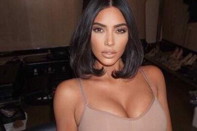 Vaza foto rara de Kim Kardashian sem maquiagem e internautas reagem