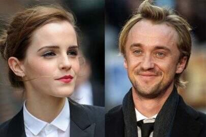 Romance entre Draco e Hermione? Tom Felton posta foto com Emma Watson e fãs suspeitam namoro