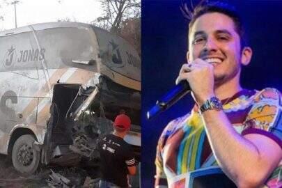 Ônibus da banda de Jonas Esticado sofre acidente