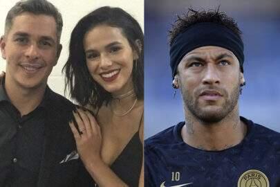 Ivan Moré posa com Bruna Marquezine, zoa Neymar e jogador reage