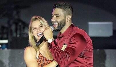 """Em show, Gusttavo Lima pede mais um filho e Andressa Suita dispara: """"Rindo de nervoso"""""""
