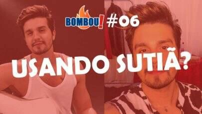 BOMBOU! Luan Santana coloca sutiã de fã e viraliza na internet