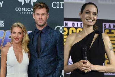 Esposa de Chris Hemsworth não quer que ator tenha contato com Angelina Jolie