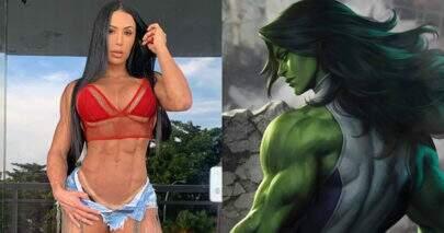 """Gracyanne Barbosa diz que """"adoraria"""" interpretar versão feminina de Hulk em série"""