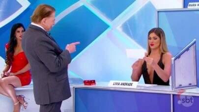 Após provocação de Silvio Santos, Lívia Andrade desabafa sobre Leo Dias e Fontenelle