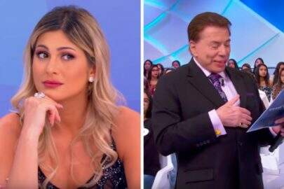 """Silvio Santos ironiza crítica após brincadeira com Lívia Andrade: """"Sou misógino"""""""