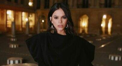 Bruna Marquezine surge deslumbrante em hotel de luxo em Paris